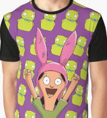 Louise Belcher Light Pattern Purple Graphic T-Shirt