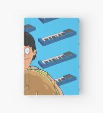 Gene Belcher Keyboard Pattern Blue Hardcover Journal