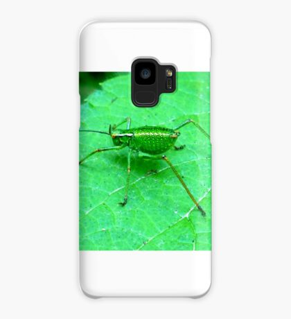 Green Bush Cricket Case/Skin for Samsung Galaxy
