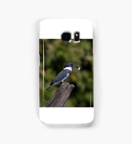 Belted Kingfisher with fish Samsung Galaxy Case/Skin