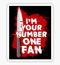 Number One Fan Sticker