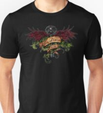 Obsidian Key - Wings, Skull and the Key - Progressive Rock Metal Music - (Clear) Hand Drawn Unisex T-Shirt