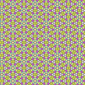 Colorfull pattern in yellow and purple by dutchstranger