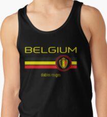 Euro 2016 Fußball - Belgien (Auswärts Schwarz) Tanktop für Männer