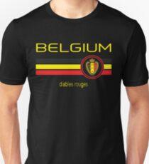 Euro 2016 Fußball - Belgien (Auswärts Schwarz) Slim Fit T-Shirt