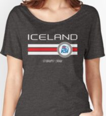 Football - Iceland (Home Blue) Women's Relaxed Fit T-Shirt