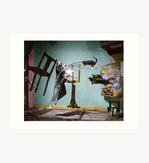 Dali Atomicus - by Philippe Halsman - colored Art Print