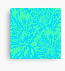 Ocean Blue Floral Abstract Canvas Print