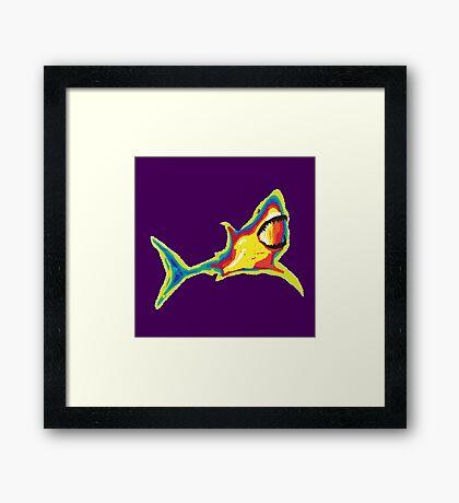 Heat Vision - Shark Framed Print