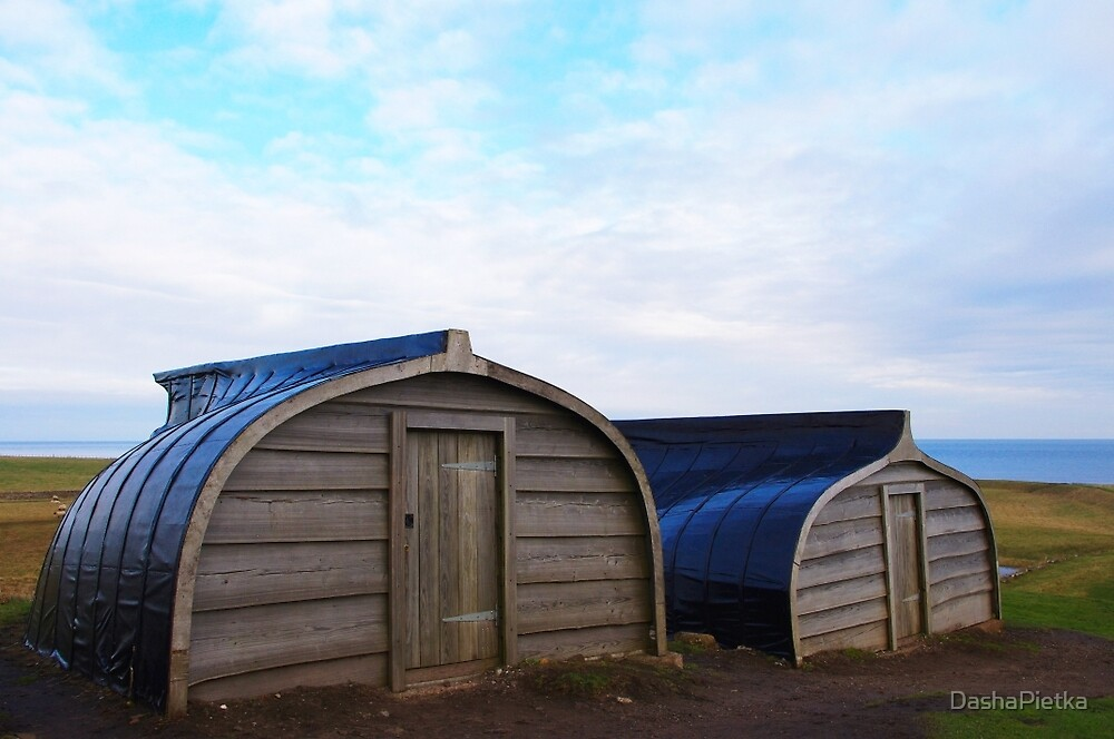 Boat Sheds on Holy Island by DashaPietka