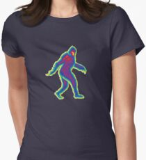 Heat Vision - Bigfoot Womens Fitted T-Shirt