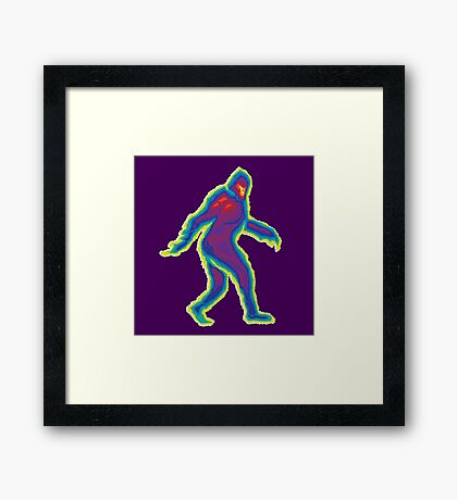 Heat Vision - Bigfoot Framed Print