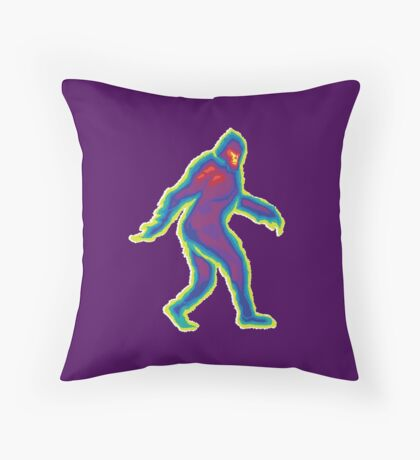 Heat Vision - Bigfoot Throw Pillow