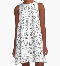 Random Numbers A-Line Dress