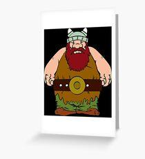 Wikinger - viking olaf Greeting Card