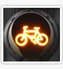 Amber Bike Traffic Light Sticker