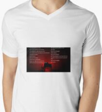 Muse Neutron Star Collision Lyrics Men's V-Neck T-Shirt