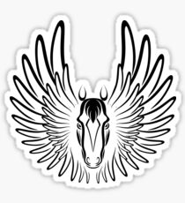 Pegaso (Black Version) Sticker