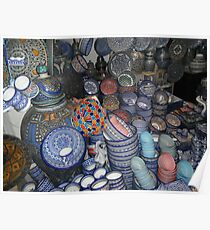 Moroccan pottery colour Poster