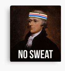 No Sweat - Inspired by Hamilton - sweatband Canvas Print