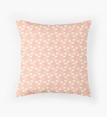 Gold and Pink Vines Throw Pillow
