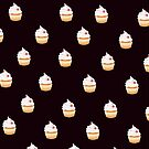 Cupcake with Black Background by saleire