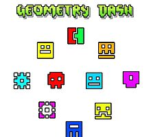 geometry dash sticker collection by epicdude89. Black Bedroom Furniture Sets. Home Design Ideas