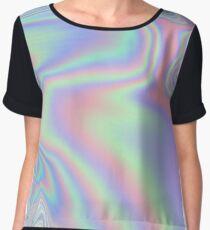 Holographic Pattern Women's Chiffon Top