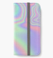 Holographic Pattern iPhone Wallet