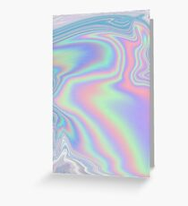 Holographic Pattern Greeting Card