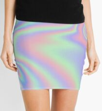 Holographic Pattern Mini Skirt
