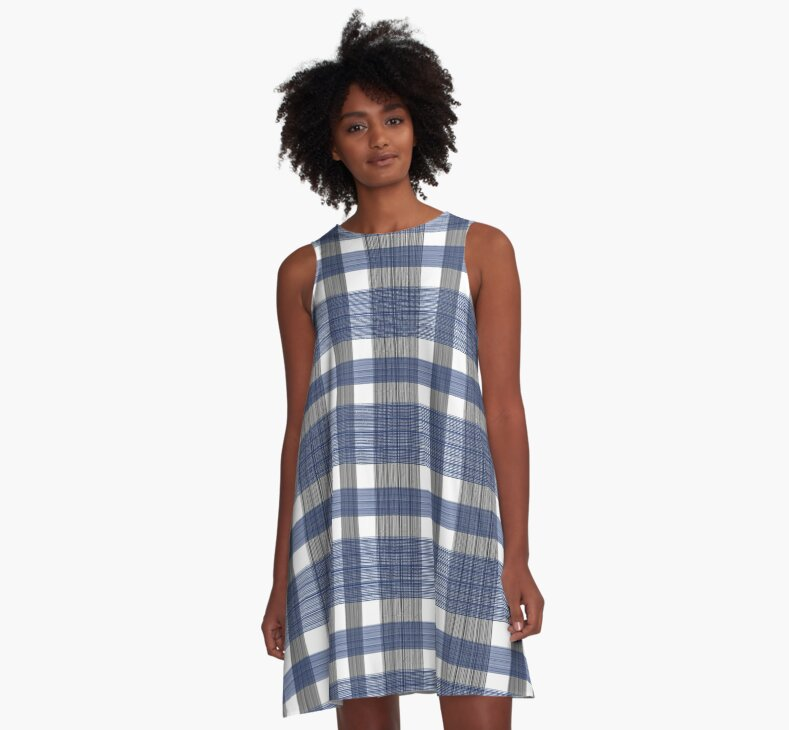 Blue and White Tartan by saleire