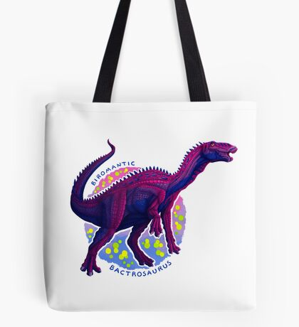 Biromantic Bactrosaurus (with text) Tote Bag