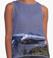 Mountains // Comic Style Contrast Tank