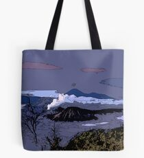 Mountains // Comic Style Tote Bag