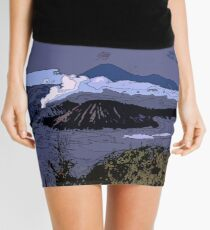 Mountains // Comic Style Mini Skirt