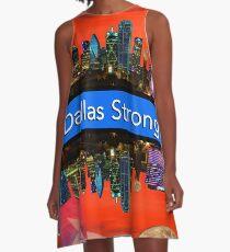 Dallas Strong - Sunset Dallas Skyline A-Line Dress