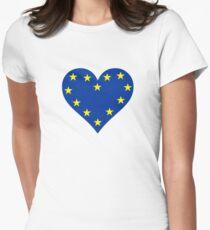 LOVE EU Womens Fitted T-Shirt
