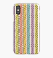 Simple plait seamless pattern. Retro colors background.  iPhone Case/Skin