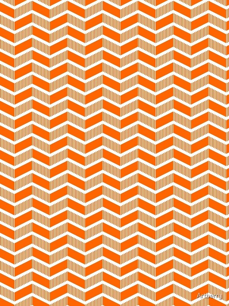 Stepped Chevrons - Orange by Artberry