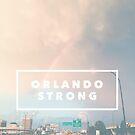 Orlando Strong (rainbow over downtown) by johnnabrynn
