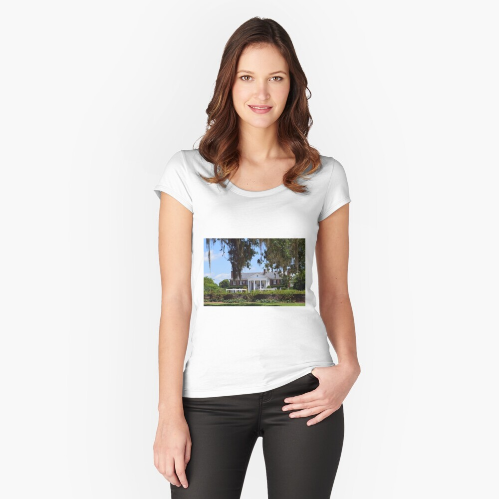 Boone Plantation  Women's Fitted Scoop T-Shirt Front