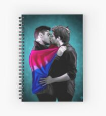 Bisexual Pride Destiel Spiral Notebook