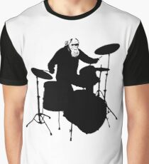 Monkey Drummer Graphic T-Shirt