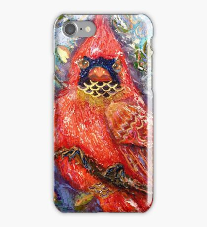 Cardinal of Regal Disposition, by Alma Lee iPhone Case/Skin