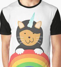Undercover Unicorn Cat Graphic T-Shirt