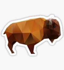 Polygonal Buffalo Sticker