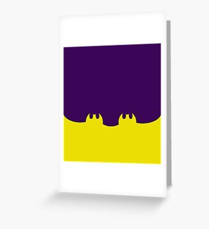 Bat Leggings Purple Greeting Card