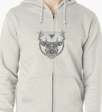 • Wild Series • Silver Stag Zipped Hoodie