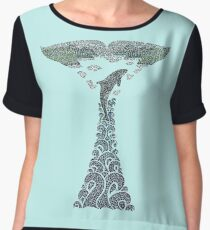 Orca whale tail illustration Chiffon Top